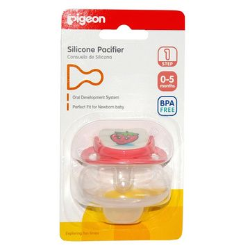 Chupete Silicona Etapa 1 (0 - 5 meses) Rosado Frutilla Pigeon