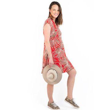 Mini Vestido Maternal y Lactancia Luisa (Rojo) Madremía