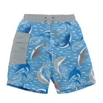 Traje de Baño con Pañal Short (Azul Delfín) Iplay