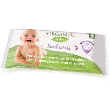 Toallitas humectantes orgánicas bebés (60 unidades) Organyc