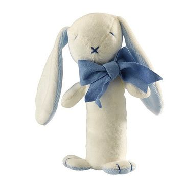 Sonajero Bastón algodón orgánico (Conejito Celeste) Maud N Lil