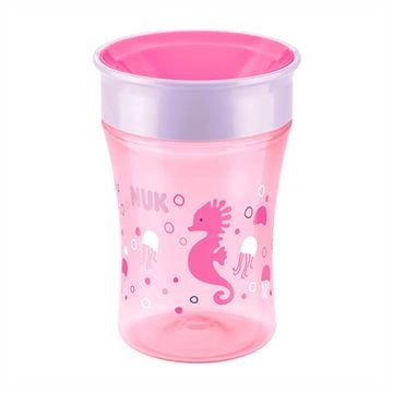 Vaso Aprendizaje Magic Cup (Rosado Caballito de mar) Nuk