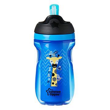 Vaso con pajita Straw Cup (Azul Jirafa) Tommee Tippee