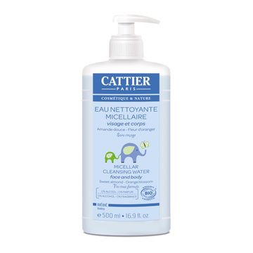Agua limpiadora micelar orgánica (500 ml.) Cattier