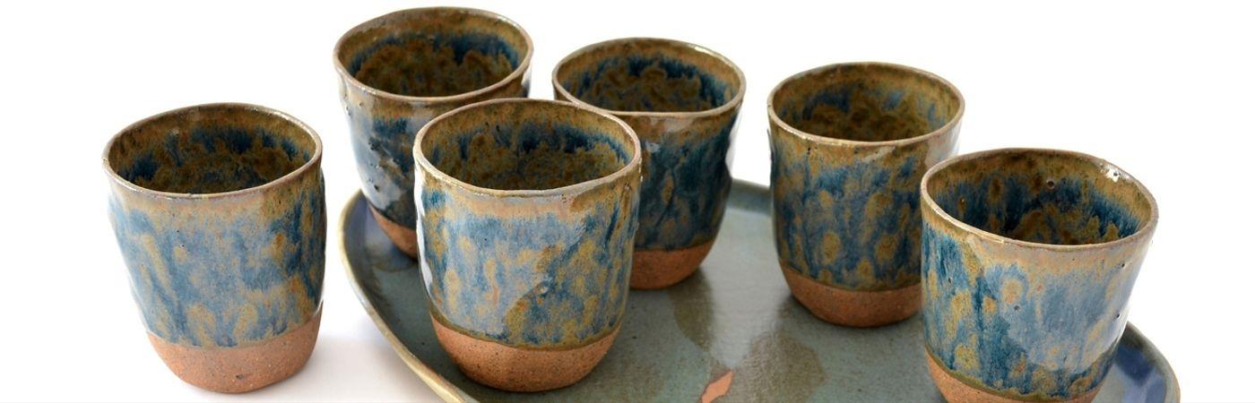Originales vasos en cerámica gres