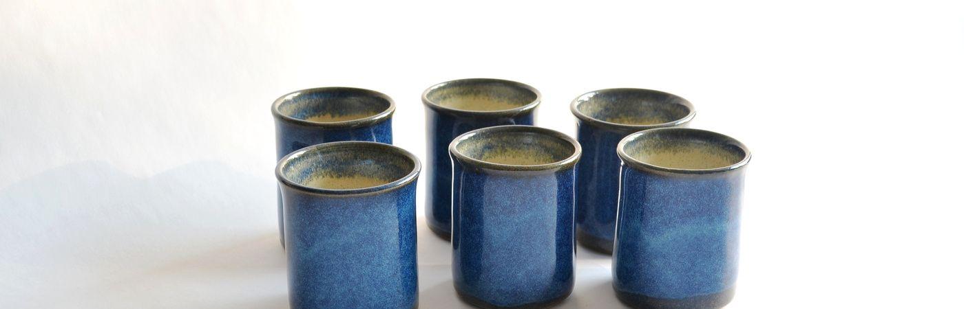 Vasos de cerámica gres colorida