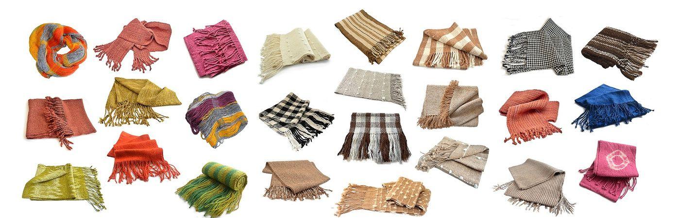 ¡Lindas y variadas bufandas!