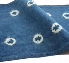 Individual o paño teñido con índigo - 10 amarras