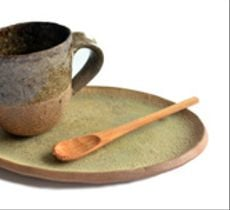 Set espresso en tono natural