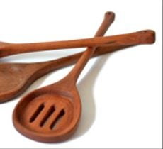 Set 3 utensilios en madera de raulí