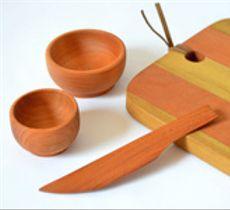 La nobleza de la madera es ideal para un toque original a la hora del aperitivo...y dura para siempre!
