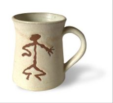 Tazón grande esmalte petroglifos - Personaje