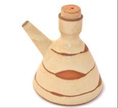 Aceitera o soyera en cerámica gres - Blanca