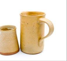 Set de jarra y vaso para el velador