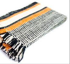 Piecera larga 3 colores en lana tejida a telar