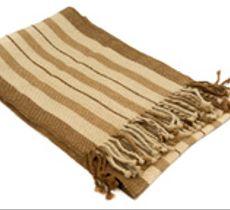 Bufanda líneas en tonos vicuña