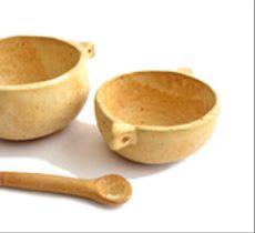 Set pocillos con orejita en cerámica gres