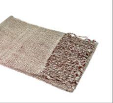 Bufanda a telar diseño mini cuadraditos en fibra de alpaca