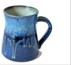 Tazón grande - Azul chorreado
