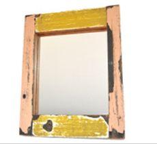 Espejo mediano maderas Valparaíso - Rosa y amarillo