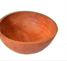 Fuente mediana tallada en raulí nativo