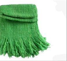 Echarpe tejido a telar en lana rústica verde intenso