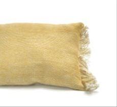 Cojín tejido a telar en lino 100% natural 2 colores