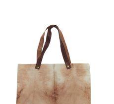 Bolso en lona teñida a mano con shibori y tintes naturales - Palta