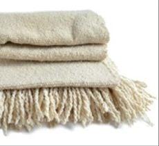 Echarpe de lana color blanco natural