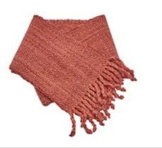 Bufanda de lana teñida con tintes naturales color rosa viejo
