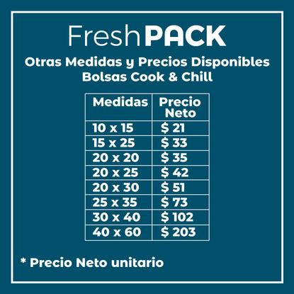 100 Bolsas Lisas Sellado Al Vacío Cook And Chill 70 Micras 25 x 35 cm