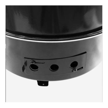 Ahumador a carbón-parrilla Dyna Glo 390 Negro