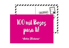 Postal 100 mil besos