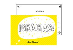 Postal Gracias (amarilla)