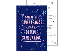 Postal Cumpleaños deseos censurados