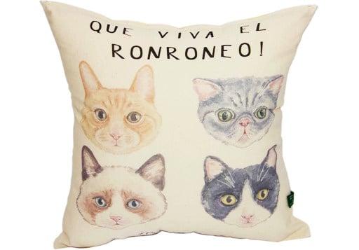 Cojín Que Viva El Ronroneo