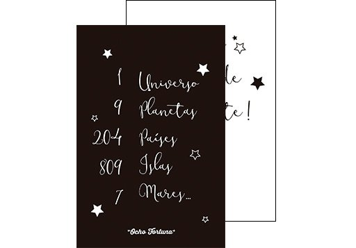 Postal 1 universo, 9 planetas