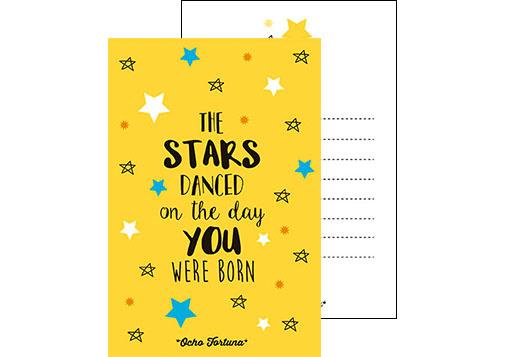 Postal The stars...
