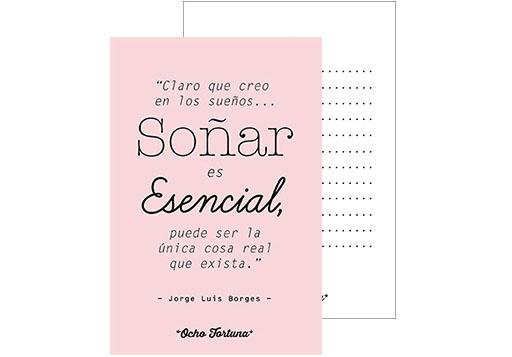 Postal Soñar (rosa)