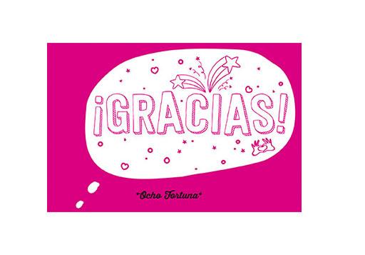 Postal Gracias (fucsia)