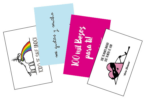Pack 4 postales Amor