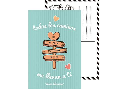 Pack 4 postales Amor y algo más...