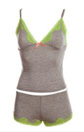 Pijama Short Gris/Verde