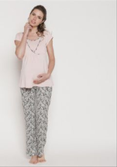 Pijama Polera Cruzada M/C