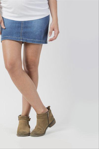 Falda Corta Jeans Celeste