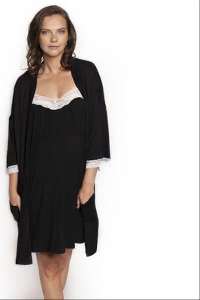 Bata Kimono Negro