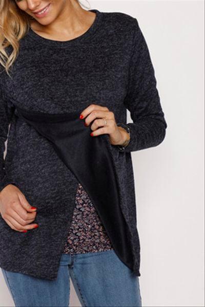 Sweater Capa Puntas Azul
