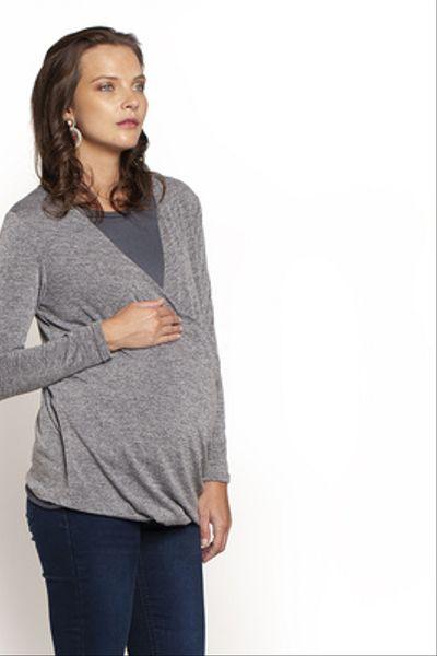 Sweater Cruzado Gris