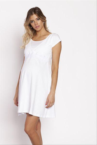Camisa Dormir Encaje BB Blanca