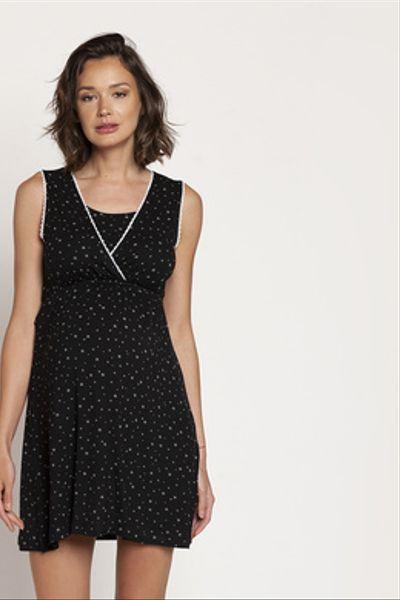 Camisa de Dormir Peto Negro Estrellas